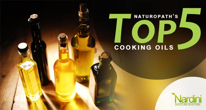 A Naturopathic Doctor's Top 5 Cooking Oils For Thyroid Health | Cooking bottles on a table | Dr. Pat Nardini | Toronto Naturopath